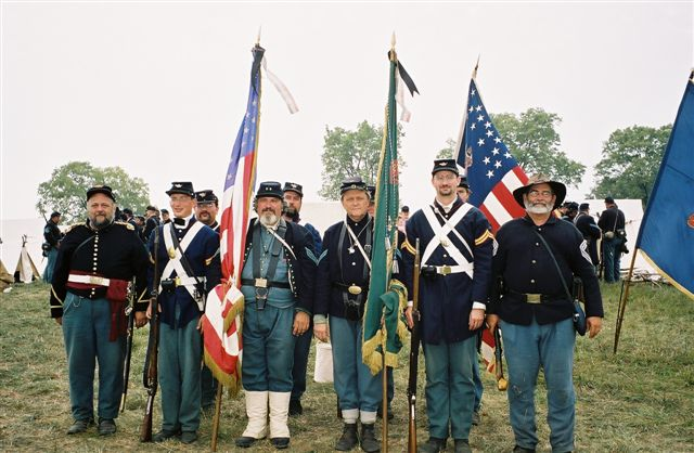 The 69th colors at the Sunken Road attack