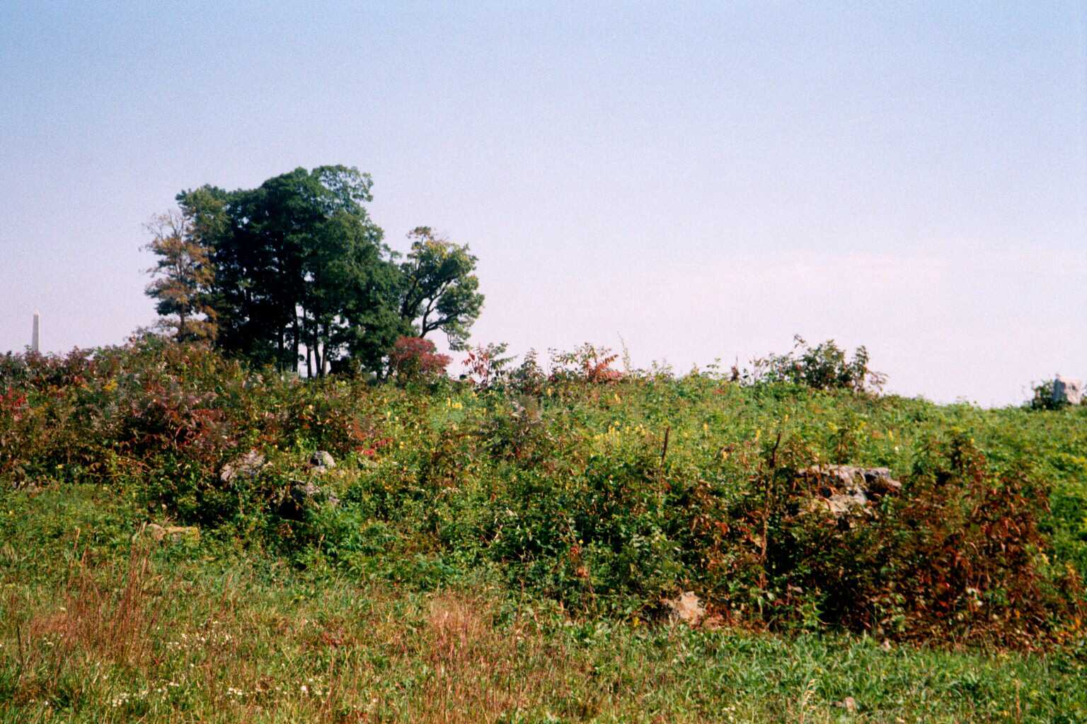 This rock outcropping offered protection to Kemper's Advance