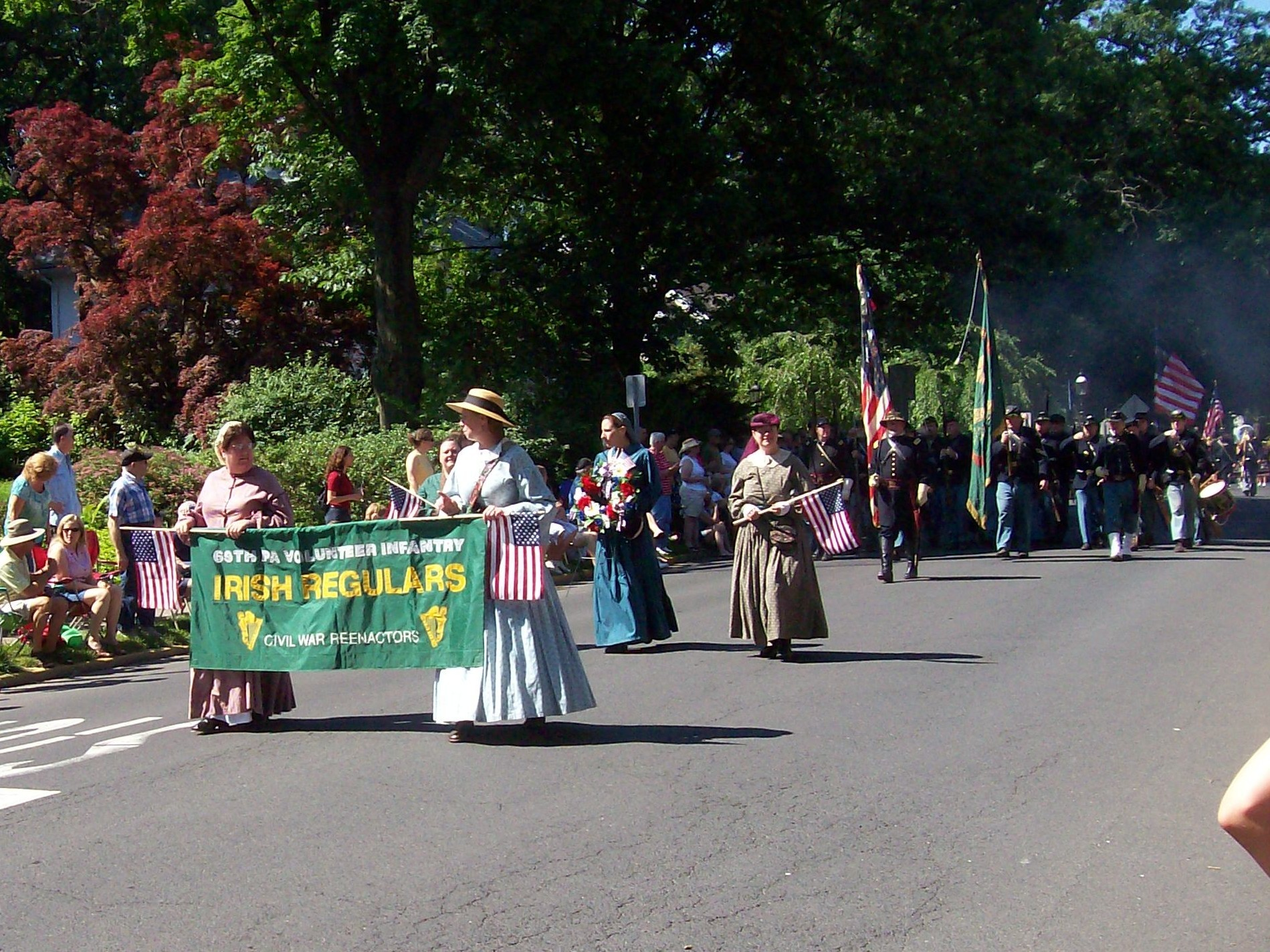 For the past 13 years the 69th Pa has participated in the Doylestown Memorial Day parade