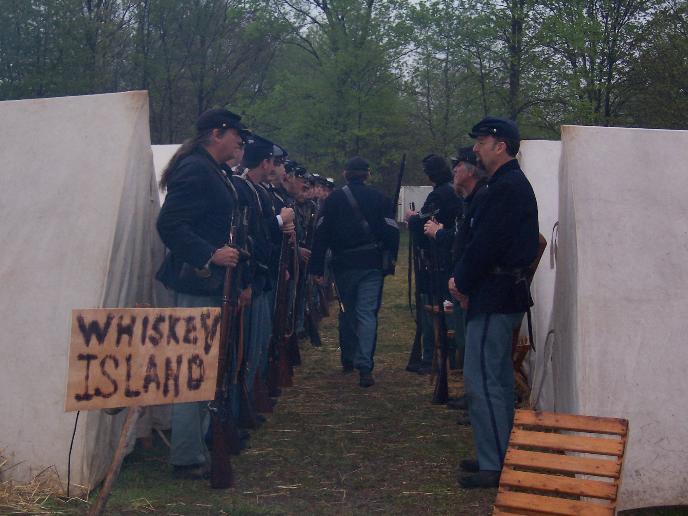 Reenactment of the final battles of the war