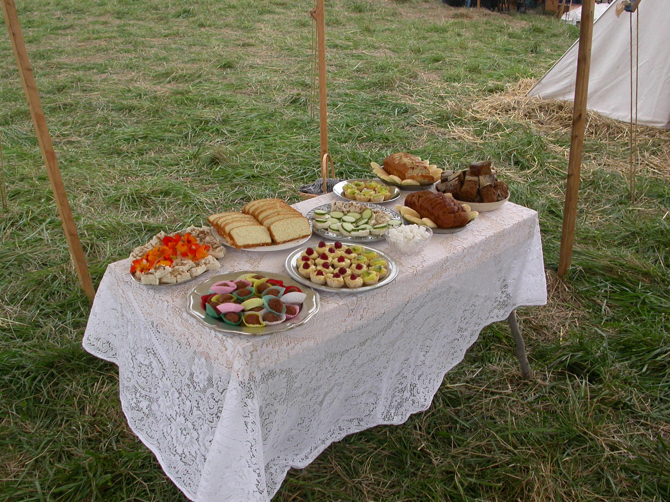 Our ladies prepare a feast