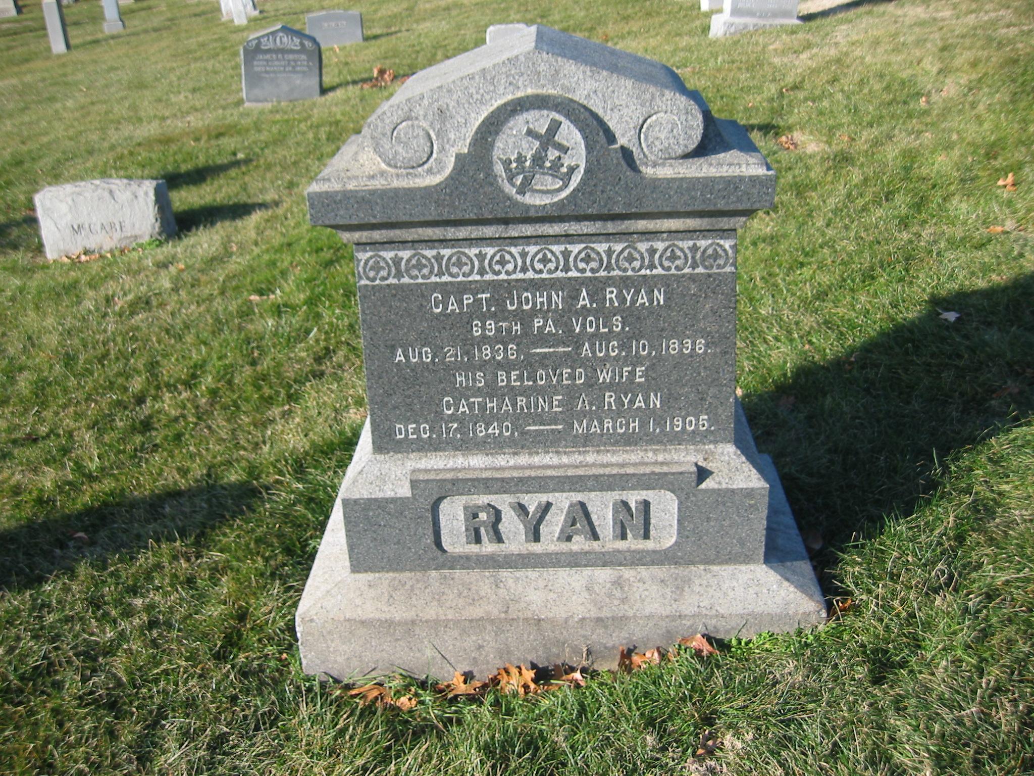 Ryan was captured at Gettysburg