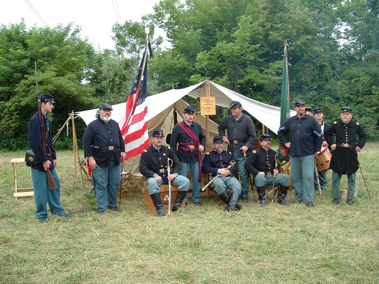 In front of the Regimental Tent ala 1865